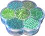 Rocailleset 7-fack sortering - Gröna Pärlor
