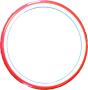 Flexiramar - Röd Rund 17 cm i diameter