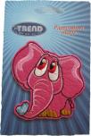 Textilmärke Rosa Elefant
