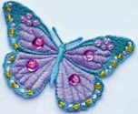 Textilmärke Fjäril