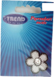 Textilmärke Blomma med pärla
