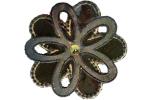 Textilmärke Kopparfärgad Blomma