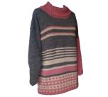 Oversize tröja i ull och lin
