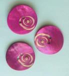 Porslinsknapp 28 mm med Pärla