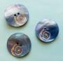 Porslinsknapp 28 mm med Pärla - Porslinsknapp Blå 28 mm