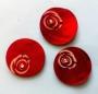 Porslinsknapp 28 mm med Pärla - Porslinsknapp Röd 28 mm