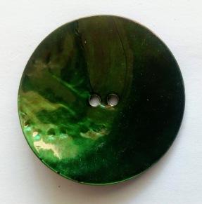 Porslinsknapp 50 mm - Porslinsknapp 50 mm Grön