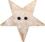 Träknapp Stjärna 30 mm
