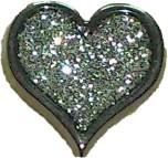 Knapp Hjärta 16 mm