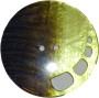 Knappar Pärlemo 34 mm - Knapp Pärlemo 34 mm Brun/Pistage