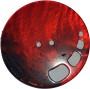 Knappar Pärlemo 34 mm - Knapp Pärlemo 34 mm Brun/Röd