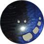 Knappar Pärlemo 34 mm - Knapp Pärlemo 34 mm Brun/Blå