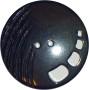 Knappar Pärlemo 34 mm - Knapp Pärlemo 34 mm Svart
