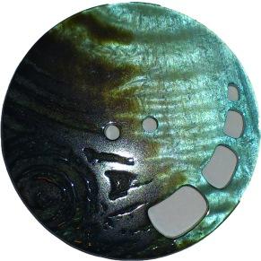 Knappar Pärlemo 34 mm - Knapp Pärlemo 34 mm Brun/Grön