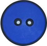 Blå Knapp med svart kant 38 mm