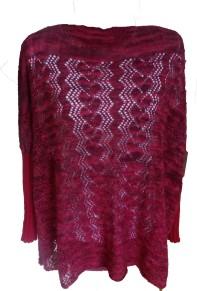 Mönster till Spetsstickad stortröja i silke, alpacka och kashmer - Spetsstickad stortröja i silke, alpacka och kashmer i pappersformat