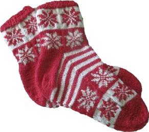 Mönster till Julsockor i Garnet Glädje - Julsockor i Garnet Glädje