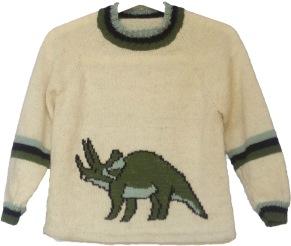 Mönster till Dinosaurietröja/Triceratopströja - Dinosaurietröja/Triceratopströja pappersformat