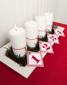 Etiketter Advent 4-pack