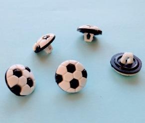 Fotboll 13 mm - Fotboll 13 mm Svart/Vit