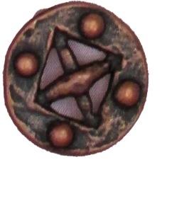 Knapp Vikinginspirerad - Knapp Brons 16 mm