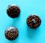 Knappar Recycled - Småmönstrad Leopard