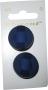 Knappkarta Elegant Blå med Tygband