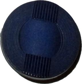 Knappkarta Elegant Blå med Tygband - Marinblå knapp med Blått band 25 mm