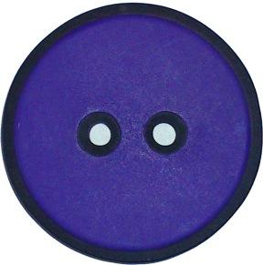 Lila Knapp med svart kant 30 mm - Lila Knapp med svart kant 30 mm