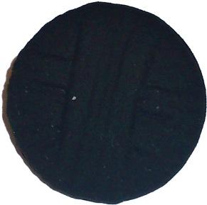 Plastknapp 19 mm - Tygliknande Plastknapp 19 mm
