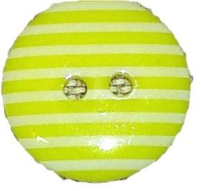 Randiga plastknappar - Randig Plastknapp Grön 18 mm