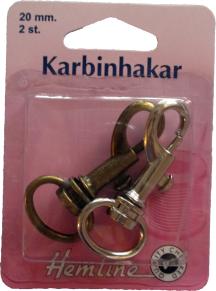 Karbinhakar 20x50 mm - Karbinhakar 20x50 mm