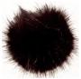 Mösstofsar - Svart 10 cm Polyacryl