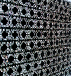 Strassband påstrykbart - Svart 11 mm
