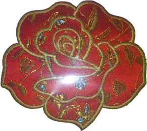 Textilmärke Asian Rose - Textilmärke Asian Rose