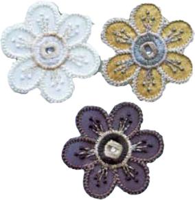 Textilmärke Blommor 3-pack - Blommor 3-pack