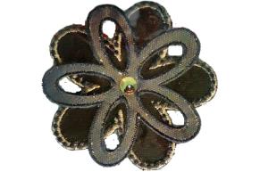 Textilmärke Kopparfärgad Blomma - Textilmärke Kopparfärgad Blomma