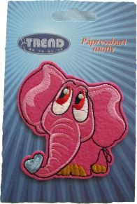 Textilmärke Rosa Elefant - Textilmärke Rosa Elefant