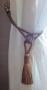 Tofsar Gardinomtag - Ljust kopparbrunt blankt 58 cm