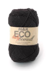 M&K Eco Baby Bomull - Svart