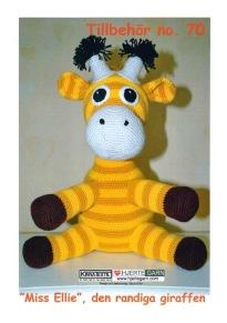 Mönster till Miss Ellie den Randiga Giraffen - Miss Ellie den Randiga Giraffen