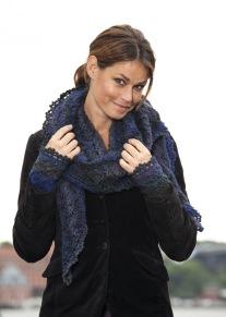 Mönsterstickad sjal och pulsvärmare - Mönsterstickad sjal och pulsvärmare
