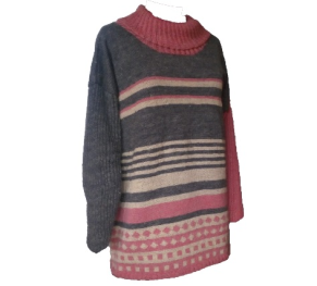 Oversize tröja i ull och lin - Oversize tröja i ull och lin