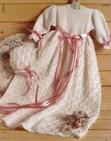 Mönster till Stickad Dopklänning - Stickad Dopklänning