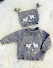 Mönster till Tröja och mössa med får - Tröja och mössa med får