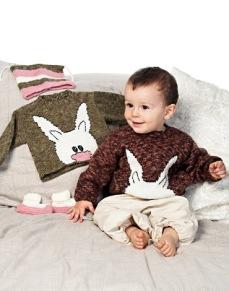Mönster till Tröja med kanin, tossor och mössa - Tröja med kanin, tossor och mössa
