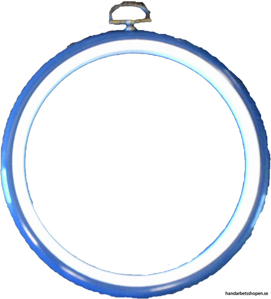 Flexram blå rund