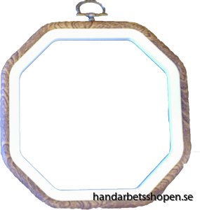 Flexram träfärgad 8-kantig