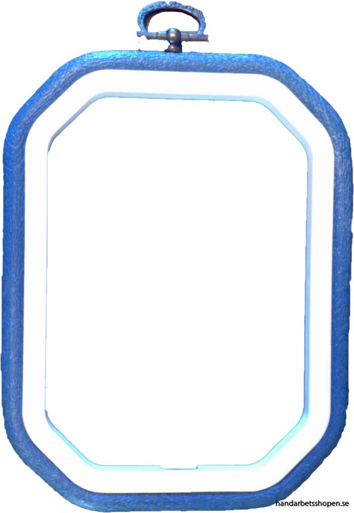 Flexram blå 8-kantig