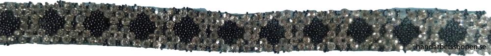 Svart strassband 2
